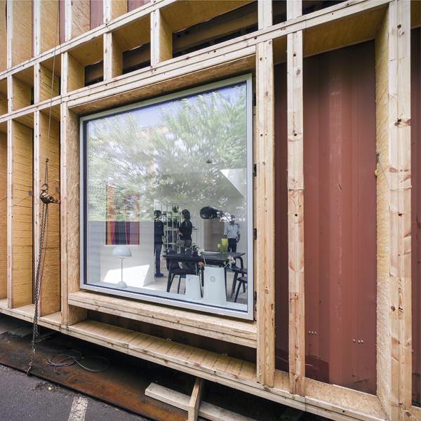 World Flex Home, proceso de construcción, Arcgengy, 2012.