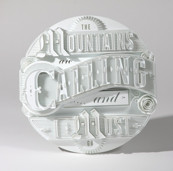 3D printed typographic