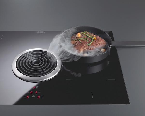 Bora el sistema extractor integrado en la placa de cocina for Extractor de humo para cocina