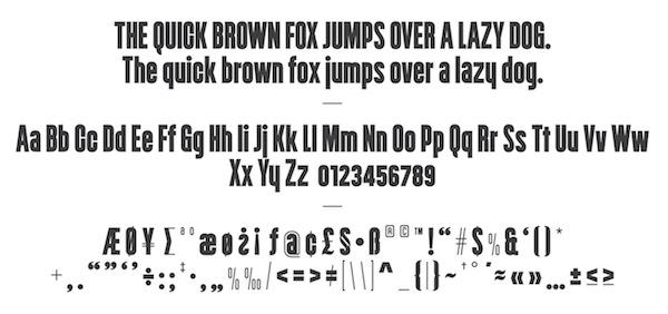 tipografía bacoa