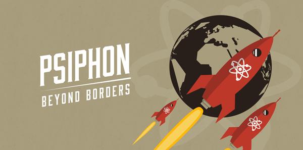 Los logotipos censurados de Psiphon y Rack&Pinion Creative