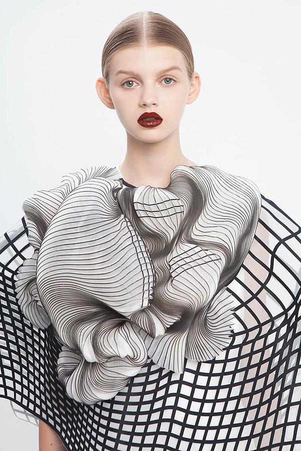 Hard Copy, Noa Raviv, moda con impresora 3D, 2014.