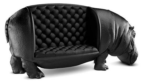 The hippopotamus sofa, Máximo Riera, 2014.