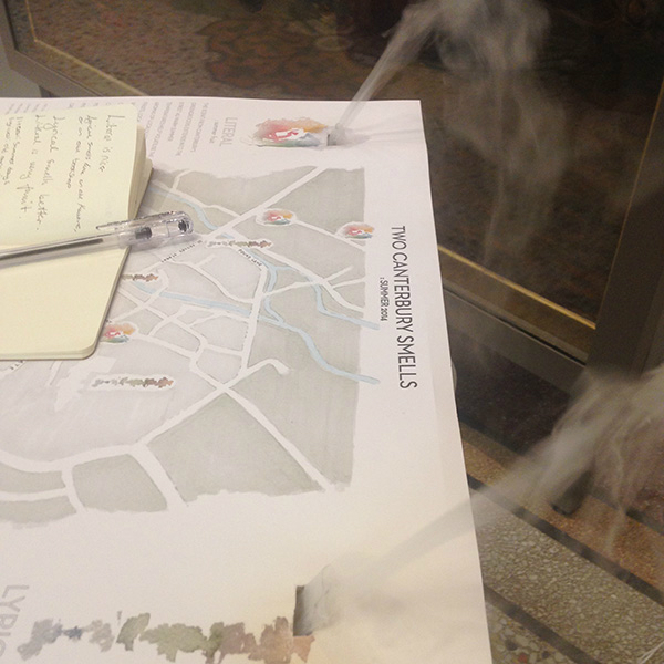 Two Canterbury Smells:summer 2014, Sensory Maps, Kate McLean, 2014.