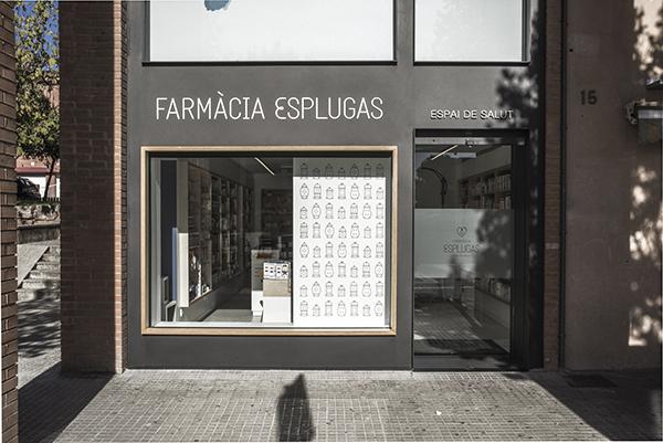 Identidad corporativa de la Farmacia Esplugas, Toormix, 2014.