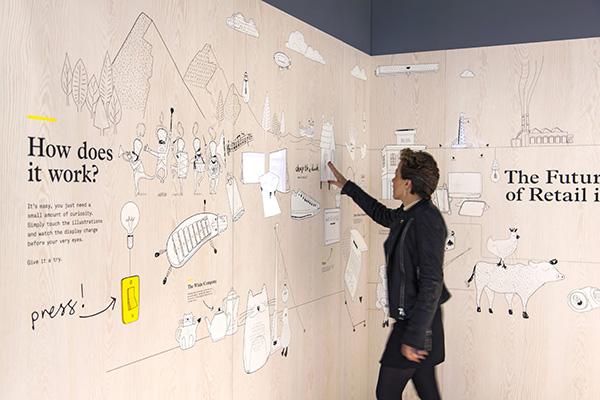 Animaciones interactivas en la Retail Design Expo, Dalziel and Pow