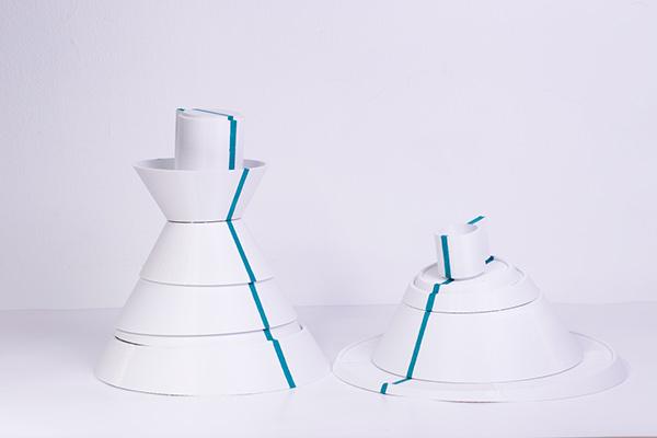 Geoma, una vajilla diseñada para fomentar la creatividad