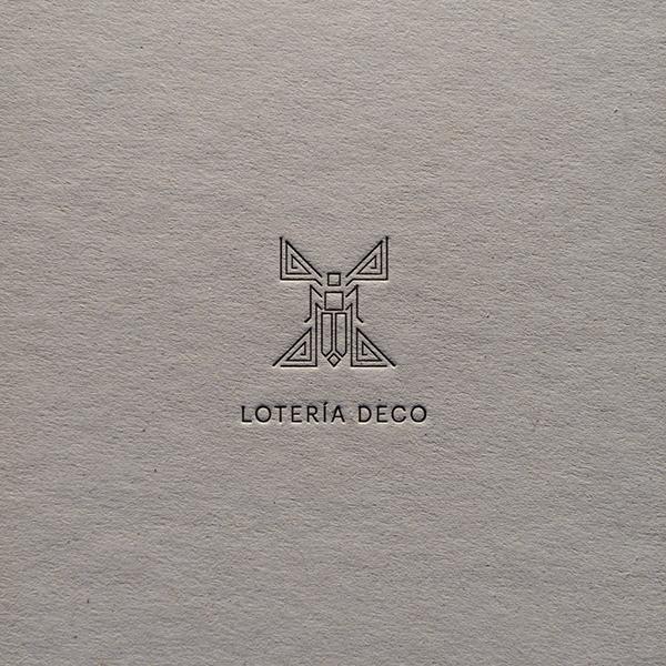 Lotería Deco, por Little Mule Studio, 2015.