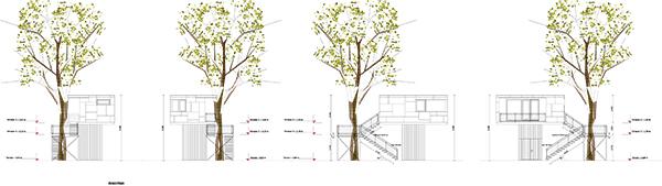 Urban Treehouse, Baumraum, 2014.
