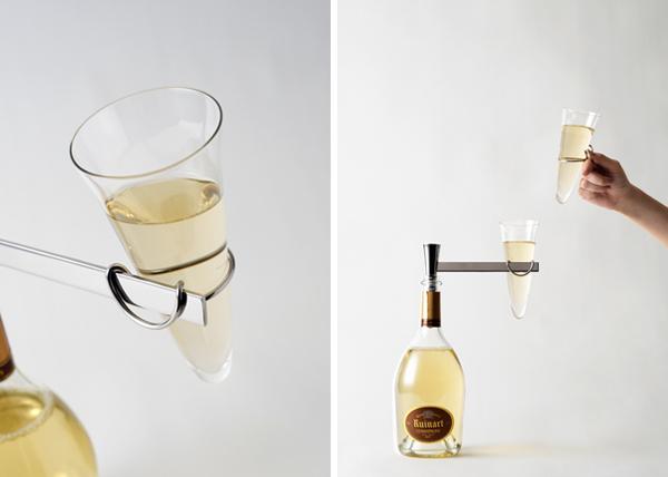 juego de champán de Nendo