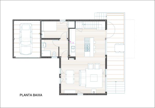 Plano de la planta baja, Contiene una Casa, 2011.