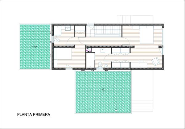 Plano de la planta primera, Contiene una Casa, 2011.