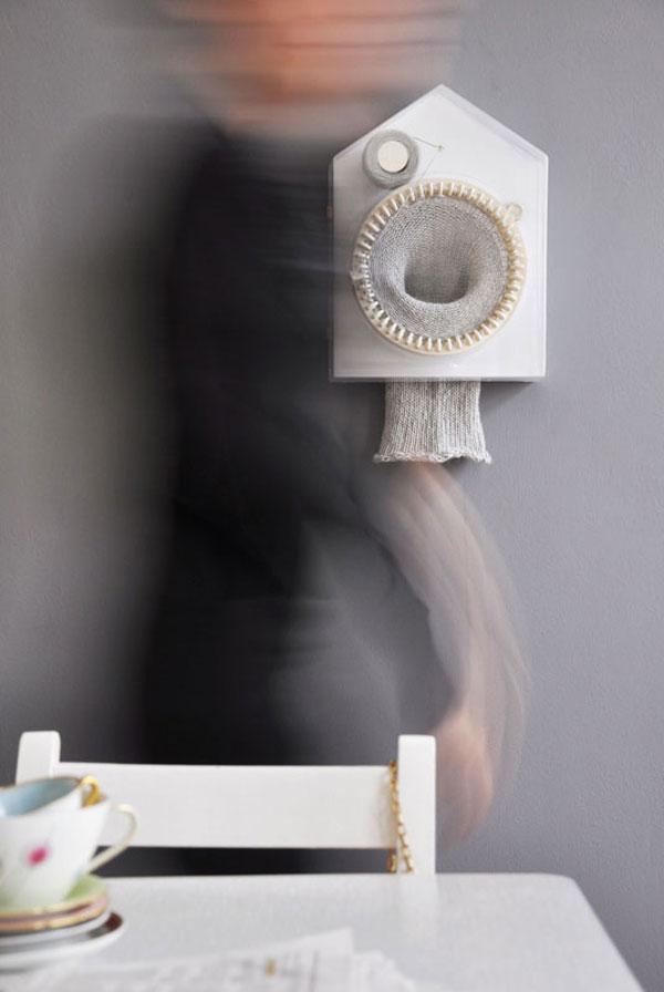 Knitting Clock de Siren Elise Wilhelmsen