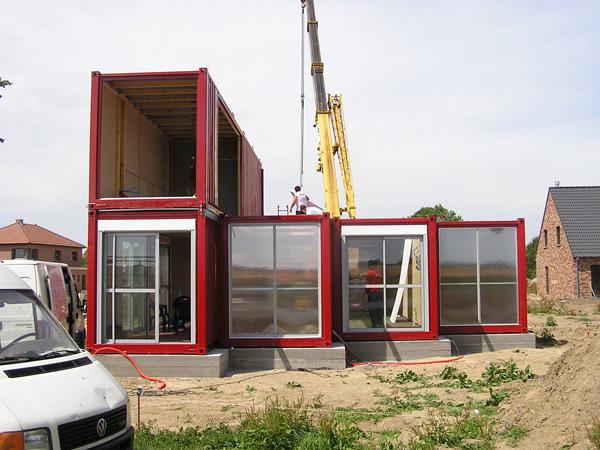 Vivienda de contenedores reciclados en lille por patrick - Contenedores como casa ...