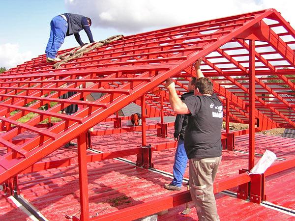 Instalación del tejado, Maison Container Lille, Patrick Partouche, 2010.