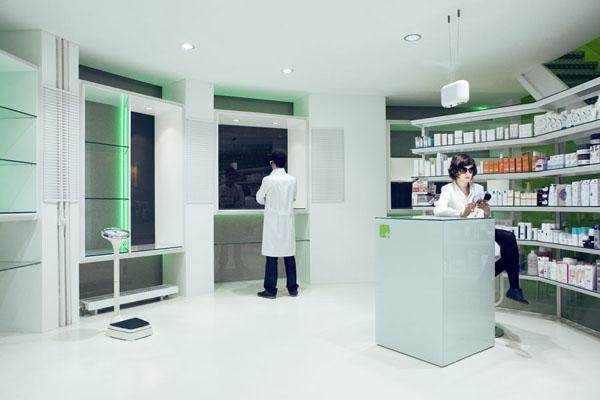 Neón para interior de farmacia