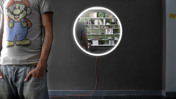 shineout, lámpara espejo