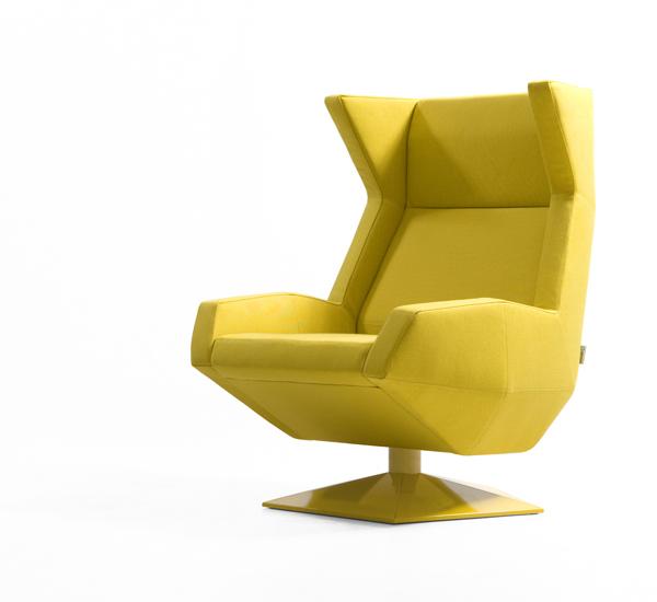 El sofá Mus, la butaca Oru y el espacio de reunión para sancal