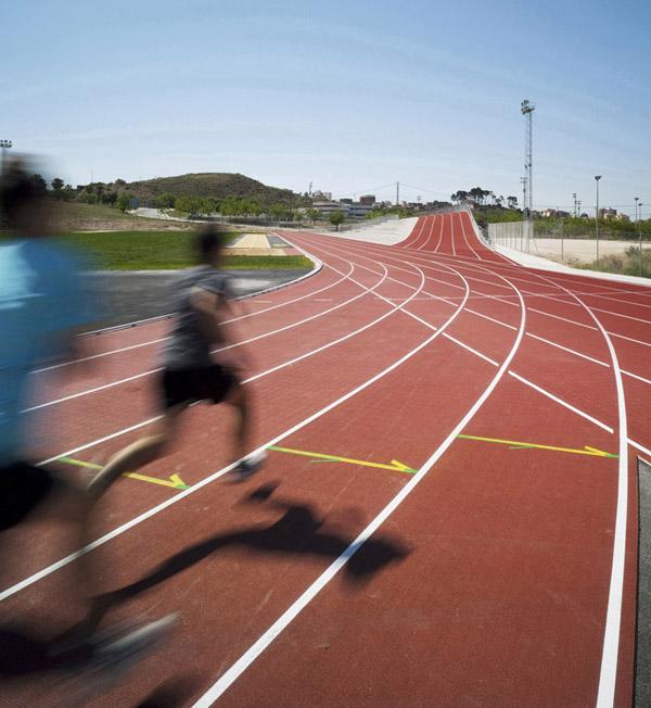 Pista de atletismo en Elda