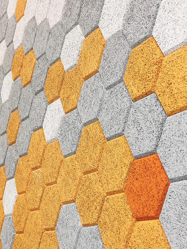 Hexagon, paneles sostenibles de Träullit