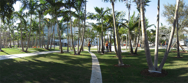 Miami Beach Soundscape, el jardín musical West 8