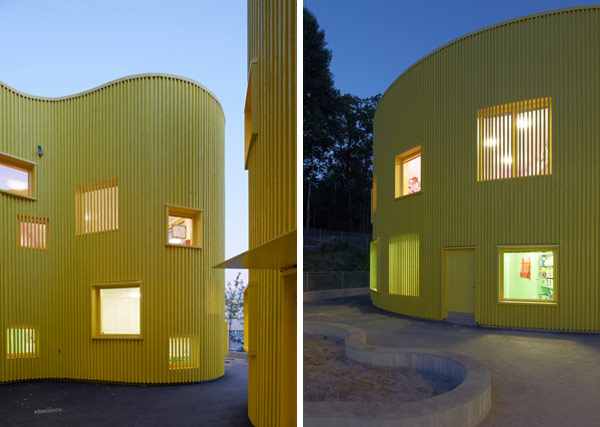 Guardería Tellus Nursery por Tham & Videgård Arkitekter