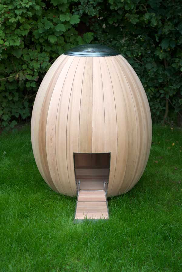 Gallinero Nogg de diseñador Matthew Hayward
