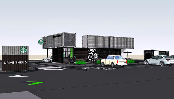 Boceto realizado por ordenador, Starbucks, 2011.