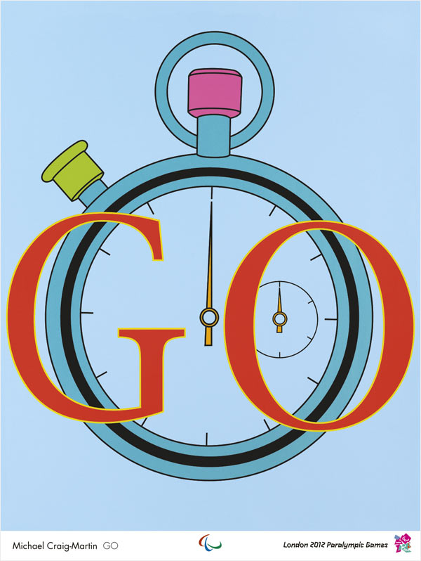 JJOO London 2012, Michael Craig-Martin, Go