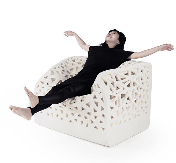 Breathing chair, el asiento envolvente de Wu Yu-Ying