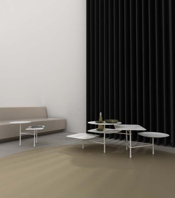 Tiers, mesa modular de Patricia Urquiola para Viccarbe