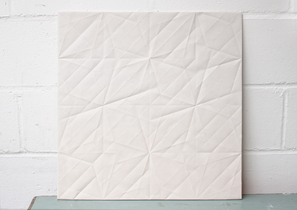 Folded, paper ceramics from Raw Edges