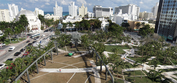 Miami Beach Soundscape, el jardín musical de West 8