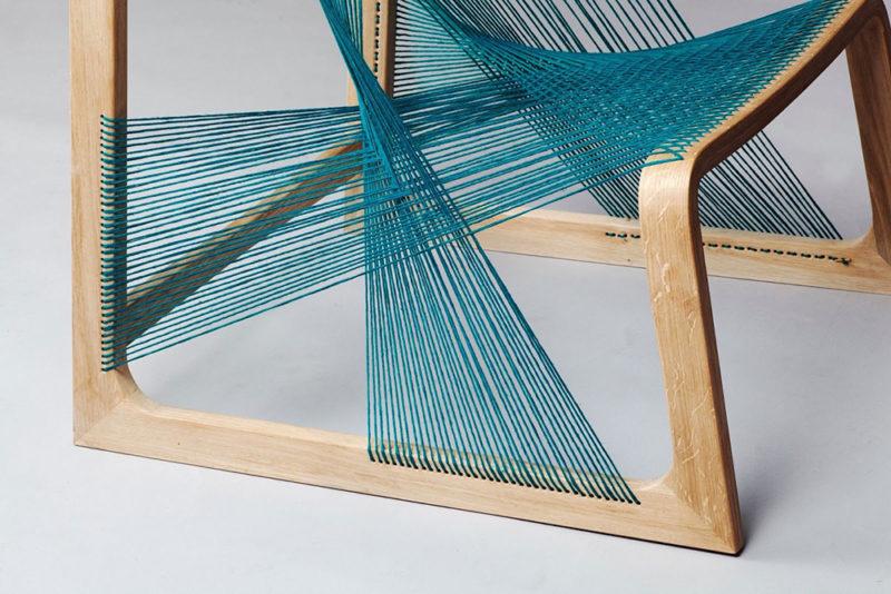 Alvisilkchair, el mobiliario sueco inspirado en el telar de Åsa Kärner