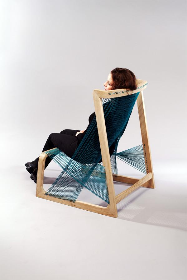Alvisilkchair, mobiliario sueco inspirado en el telar
