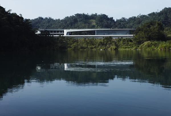 Centro de visitantes Sun Moon Lake, naturaleza y artificio en Taiwán