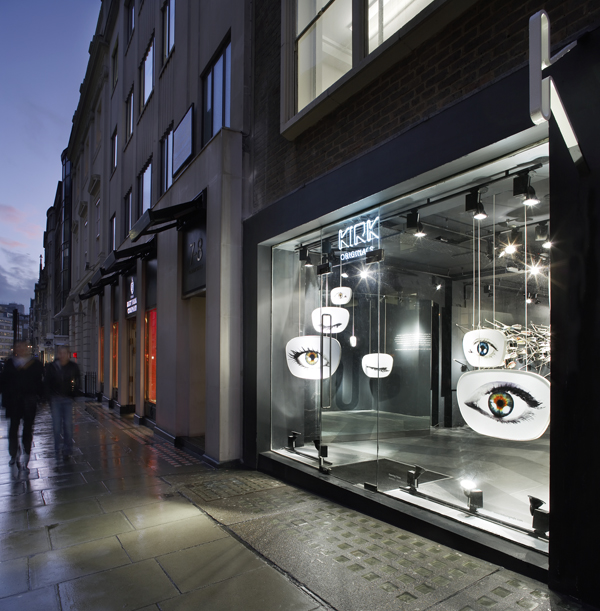 Kirk Originals Eyewear, diseño de una tienda de óptica por Campaign