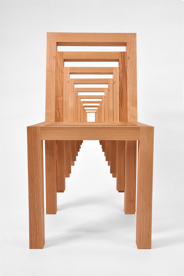 Inception, la silla que se multiplica de Vivian Chiu