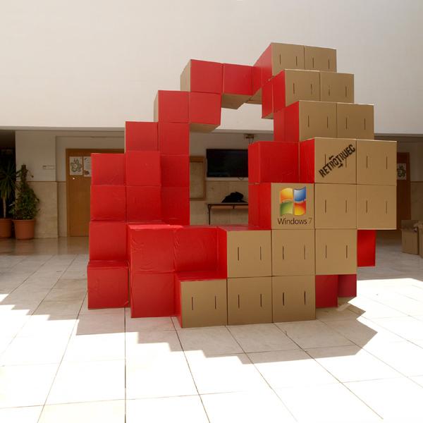 CartonLAB, estand modulares de cartón de Moho Arquitectos