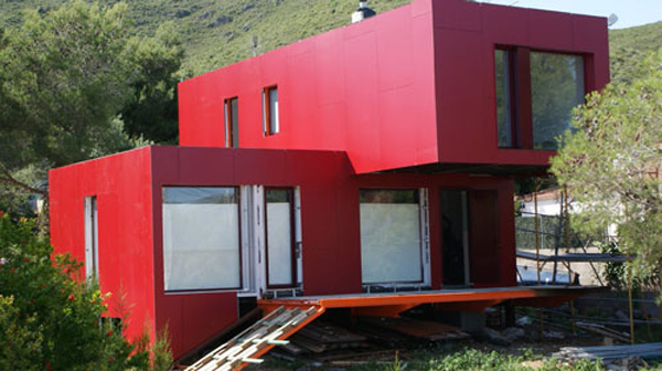 Contiene una casa vivienda hecha con contenedores - Casa de contenedores ...