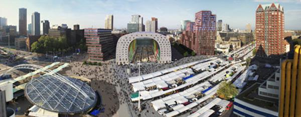 Rotterdam Market Hall de MVRDV, vivir en el mercado