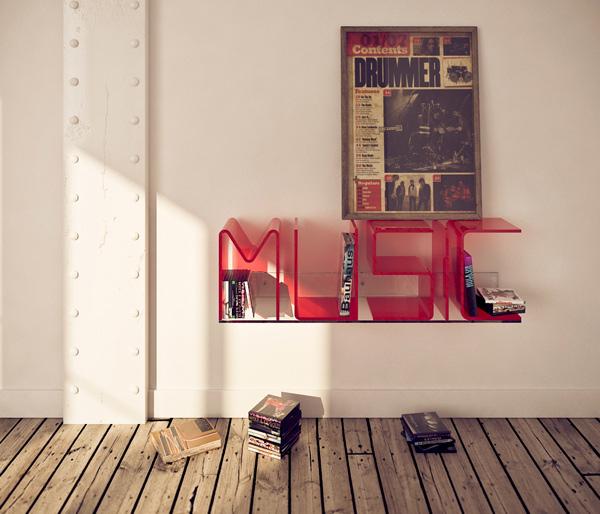 Anita, estantería tipográfica de Ricard Mollón