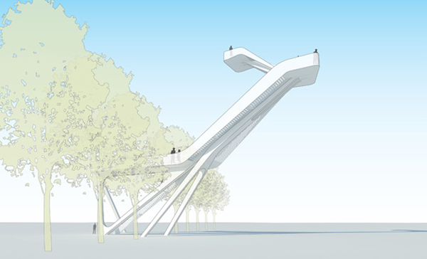 Het Hoge Hert, torre de observación de hormigón UHPC, por UNStudio