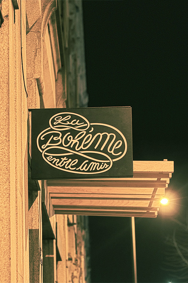 Identidad visual de Pacifica para el restaurante La Bohème en Portugal