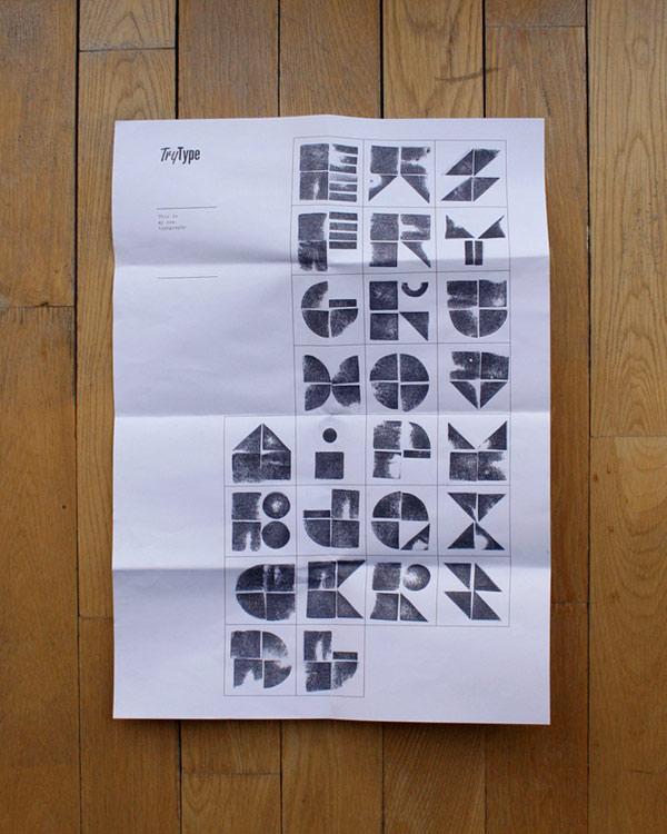 Try Type, tipografía modular de Blastto