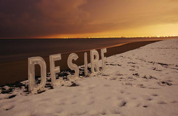 Tipografía de hielo, de Nicole Dextras