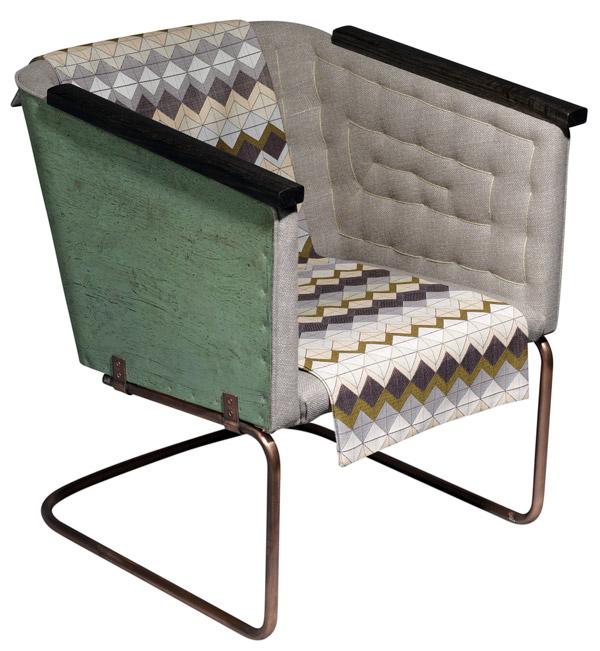 Hommage á Sigurd Lewerentz, sillón en cobre de Mats Theselius para Källemo