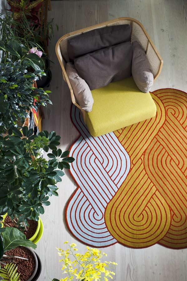 Tresse, colección de alfombras de Samuel Accoceberry para Chevalier Édition