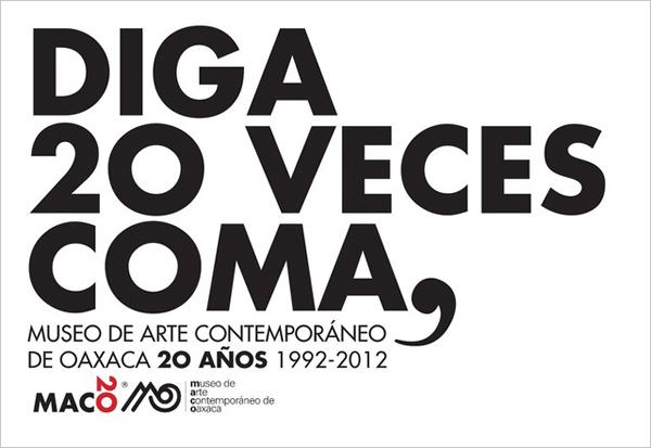 Campaña gráfica de Alejandro Magallanes para el 20 aniversario del MACO
