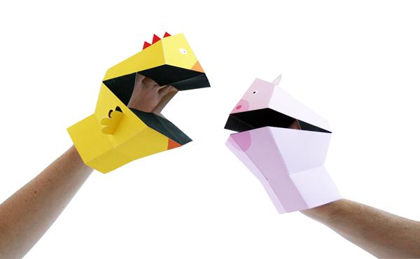 Marionetas Finger Tattoos, Finger Puppets y Hands Puppets, de Héctor Serrano para Npw